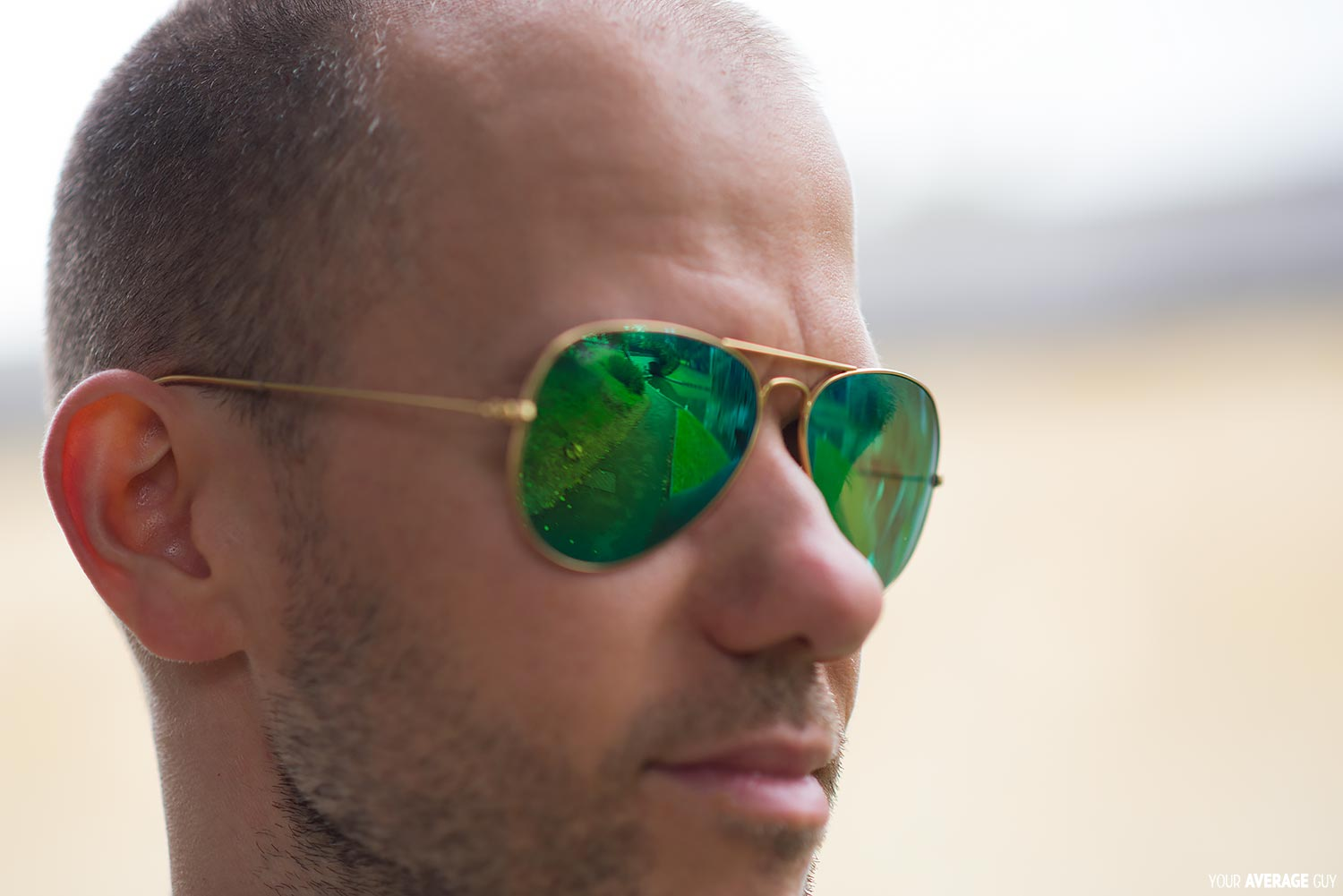 Your-Average-Guy-Style-Ray-Bay-Sunglasses-Flash-Lenses