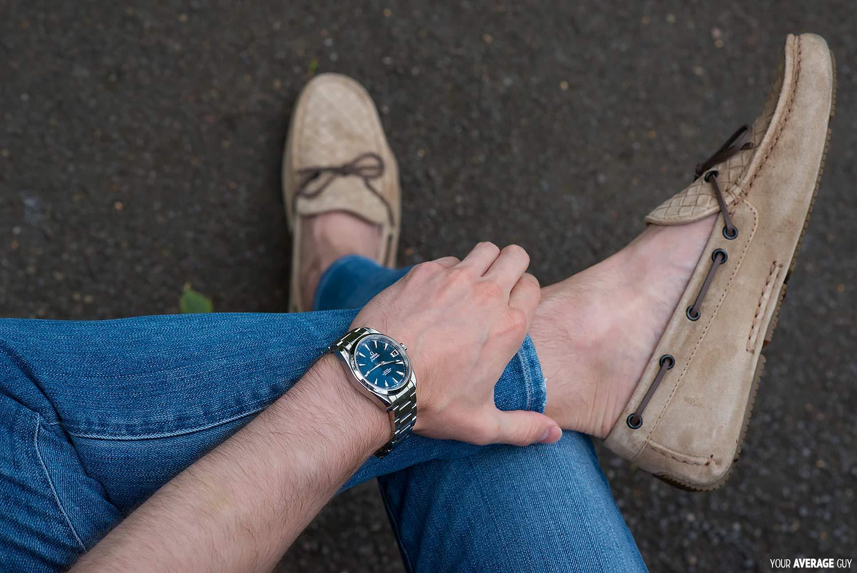 bottega venetta driving shoes omega watch