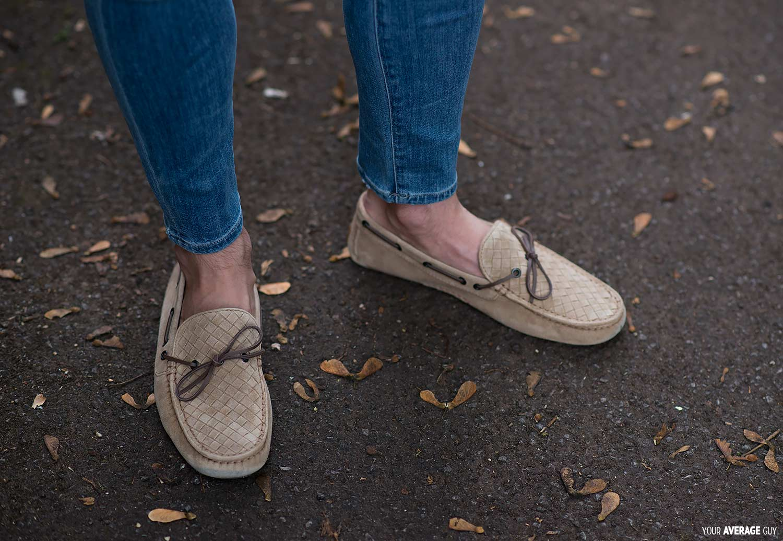 bottega venetta driving shoes stone beige