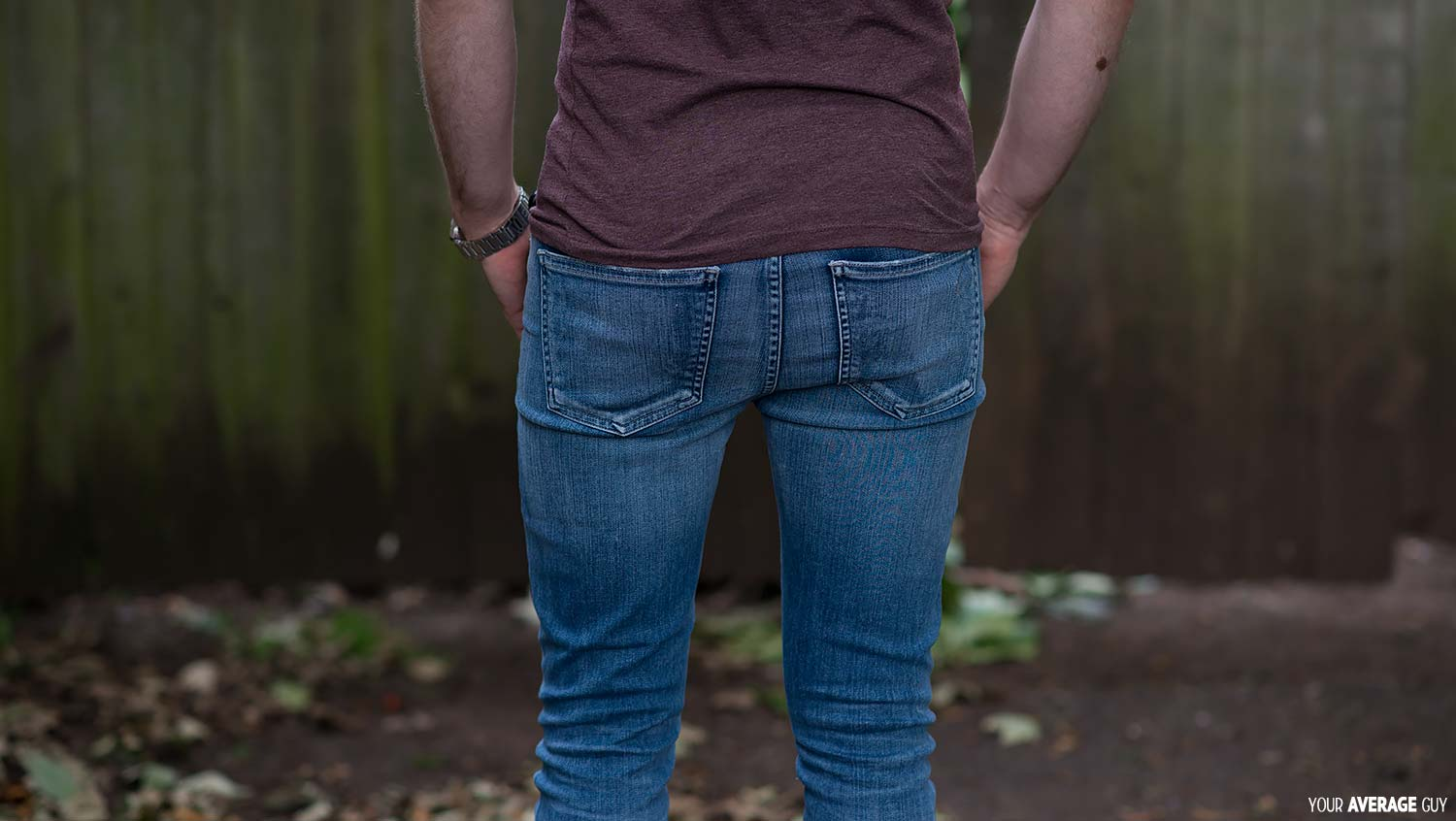 womens skinny jeans on a guy male