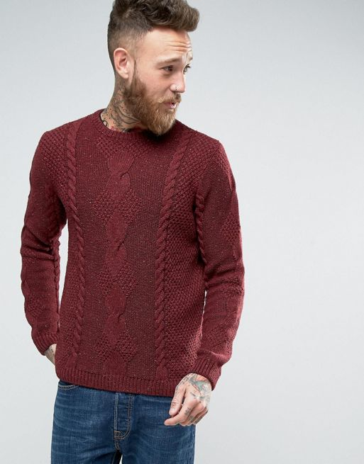 ASOS Wool Mix Jumper With Cable