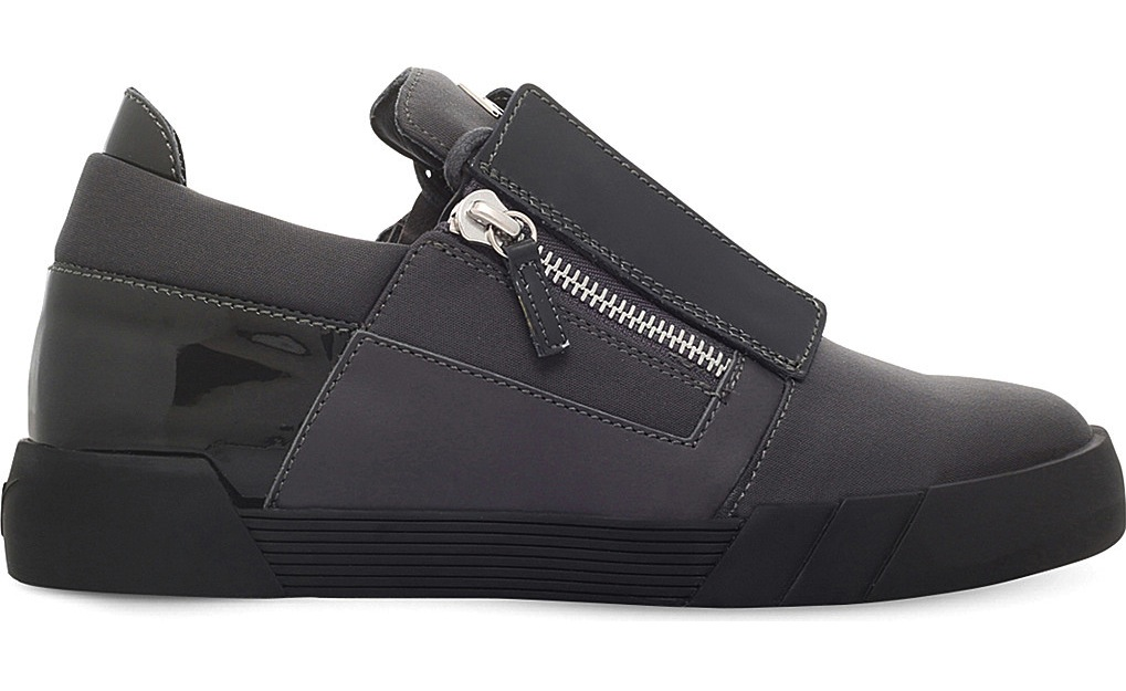 Giuseppe Zanotti Blind Panelled Leather Trainers