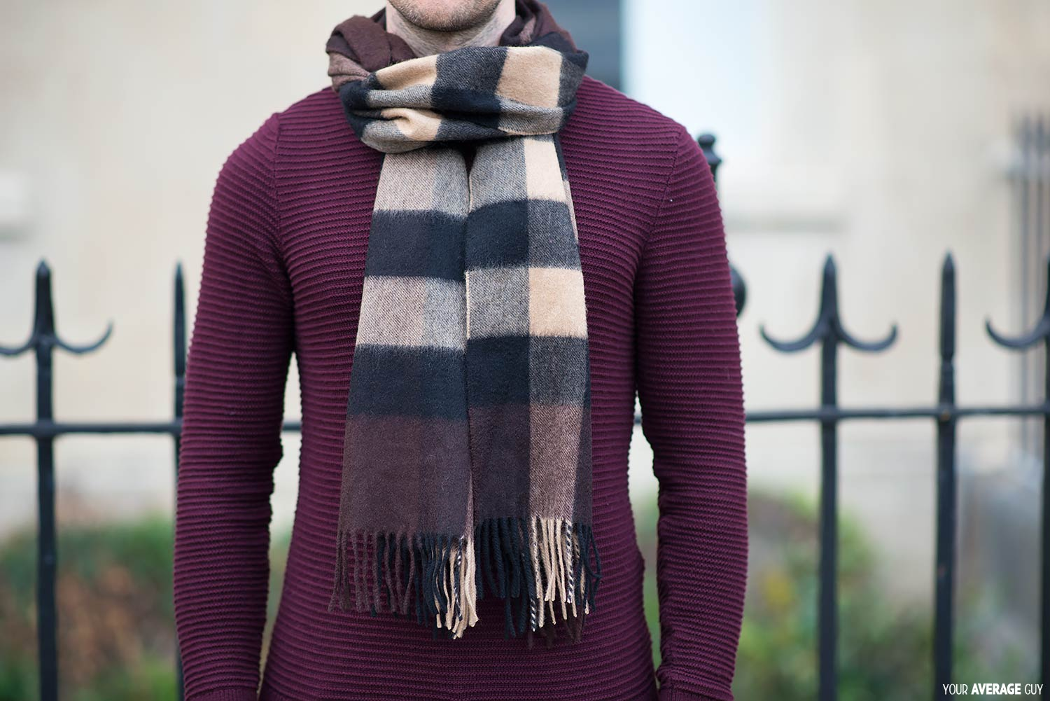 How-To-Tie-A-Scarf-Reverse Drape Tuck