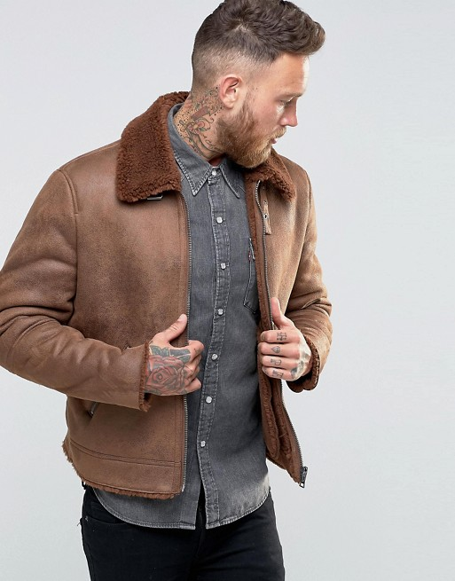 asos-faux-shearling-jacket-in-brown