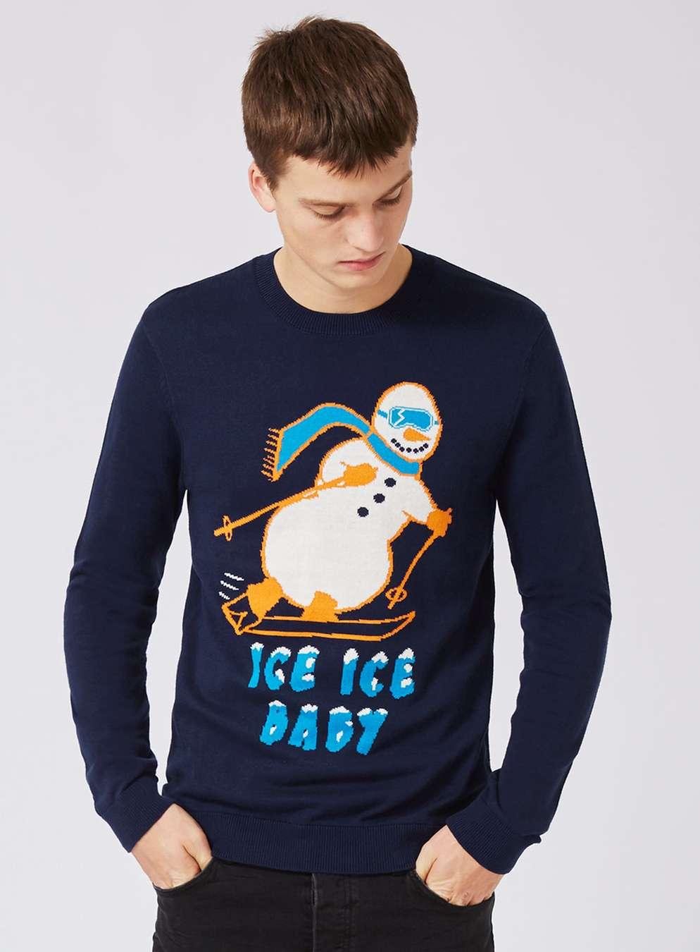 topman-navy-skiing-snowman-christmas-jumper
