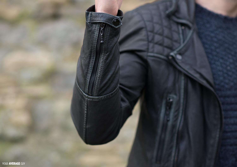 Mens all saints leather jacket