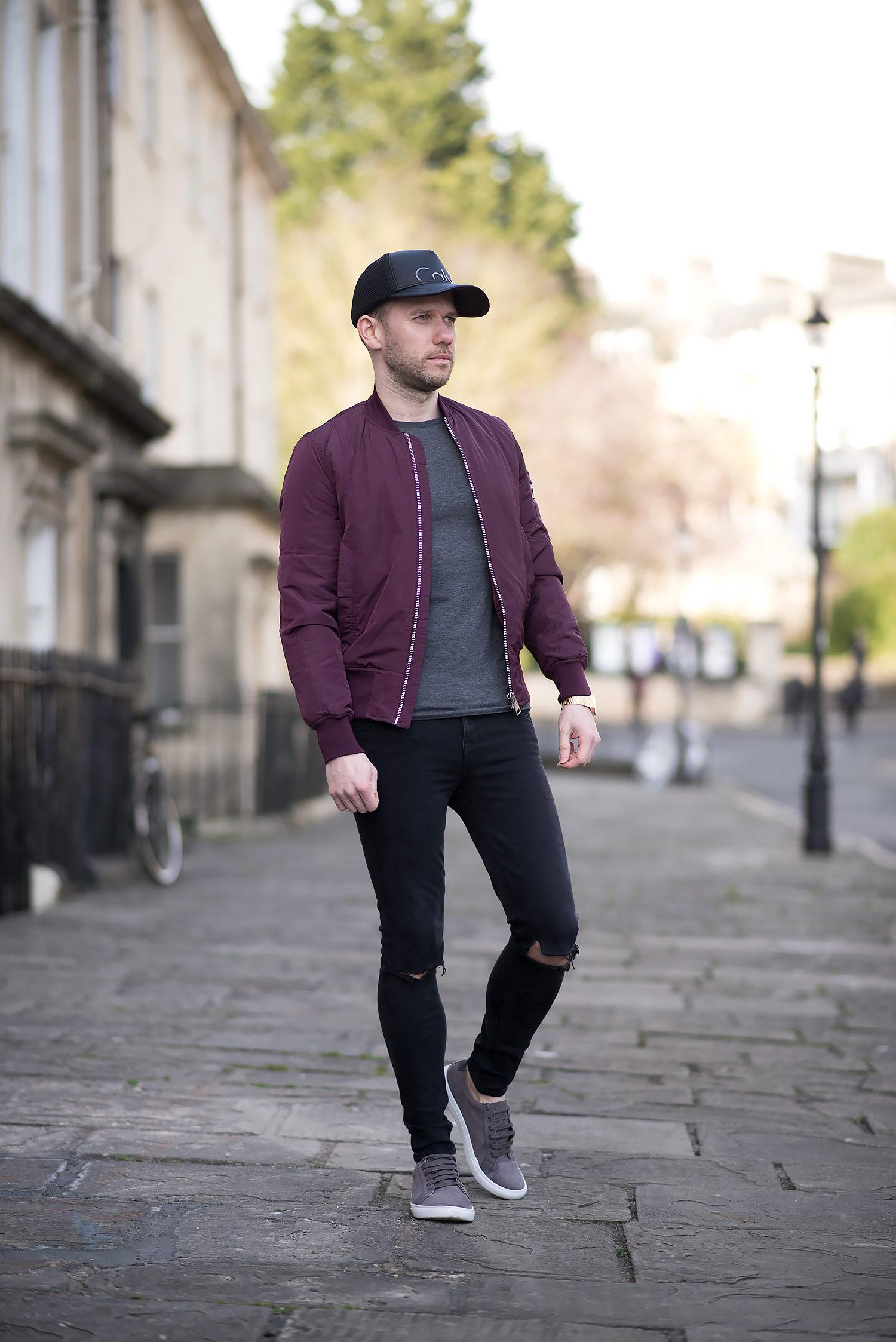 superb burgundy blazer