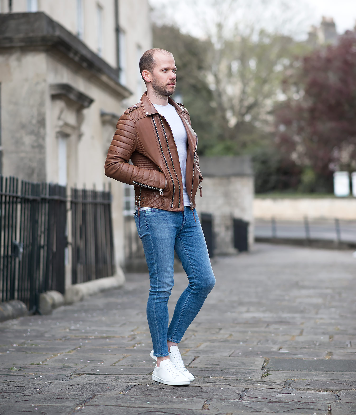 Leather jacket instagram - Mens Street Style Boda Skins Antique Brown Kay Michaels Biker Leather Jacket Instagram