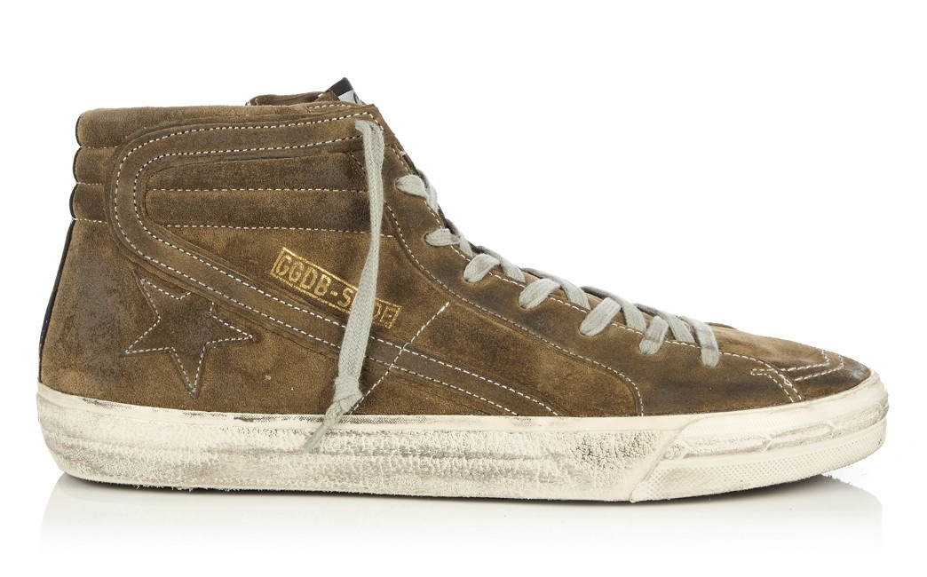 Golden Goose Deluxe Brand Slide High Top Suede Trainers