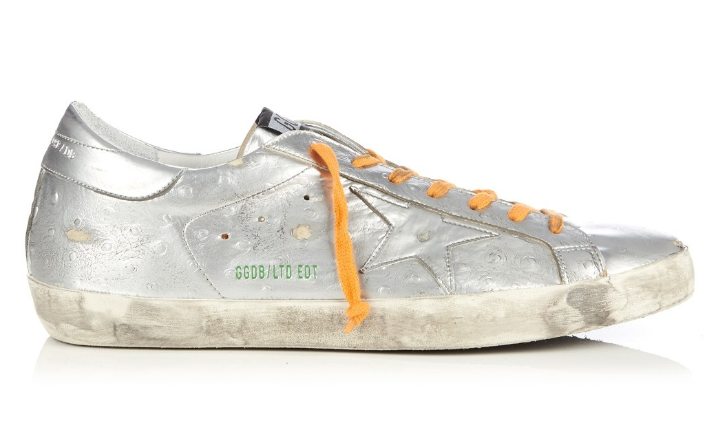 Golden Goose Deluxe Brand Super Star Low Top Metallic Leather Trainers
