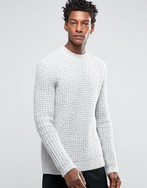 ASOS Heavyweight Jumper With Chunky Neck Trim