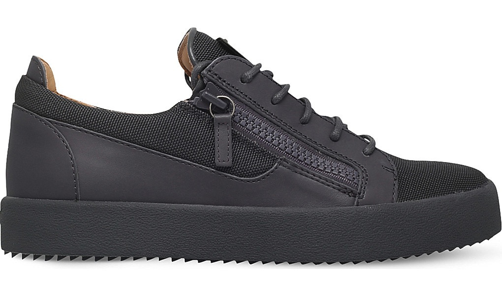 Giuseppe Zanotti Ballistic Leather Trim Trainers