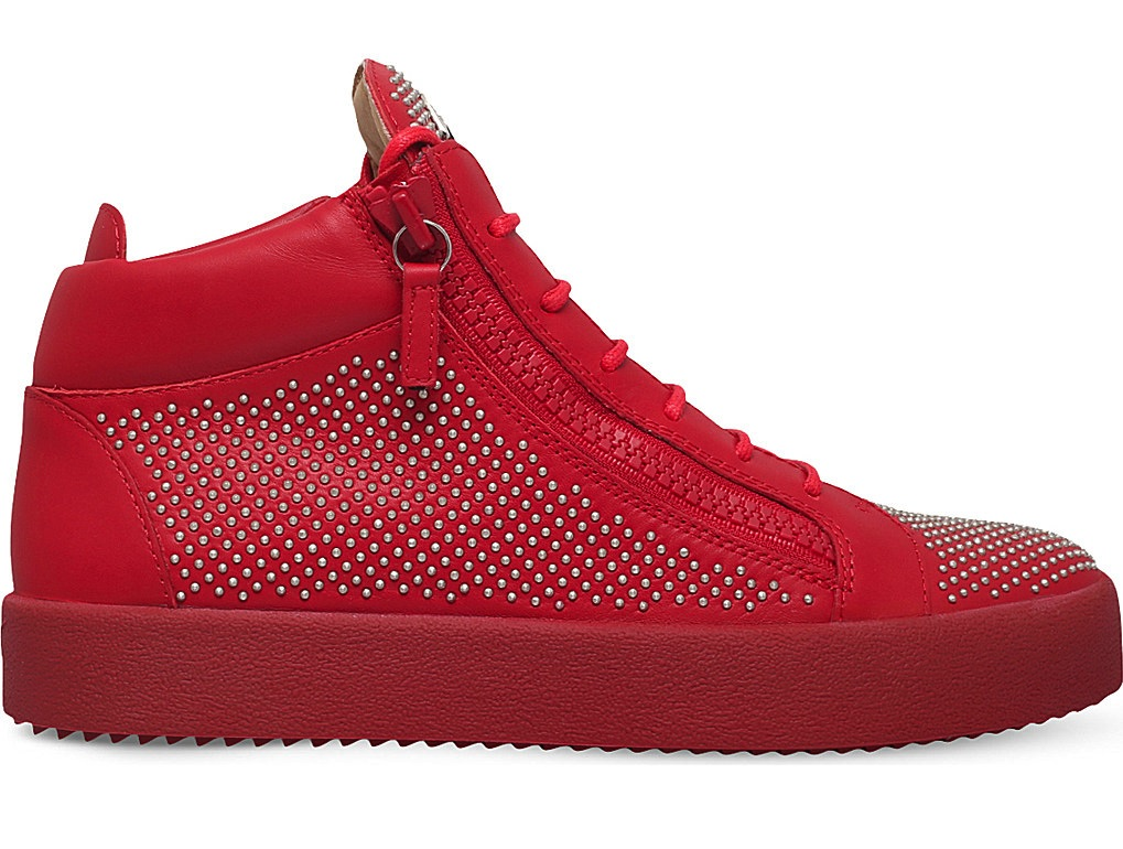 Giuseppe Zanotti Connor Leather Mid Top Trainers