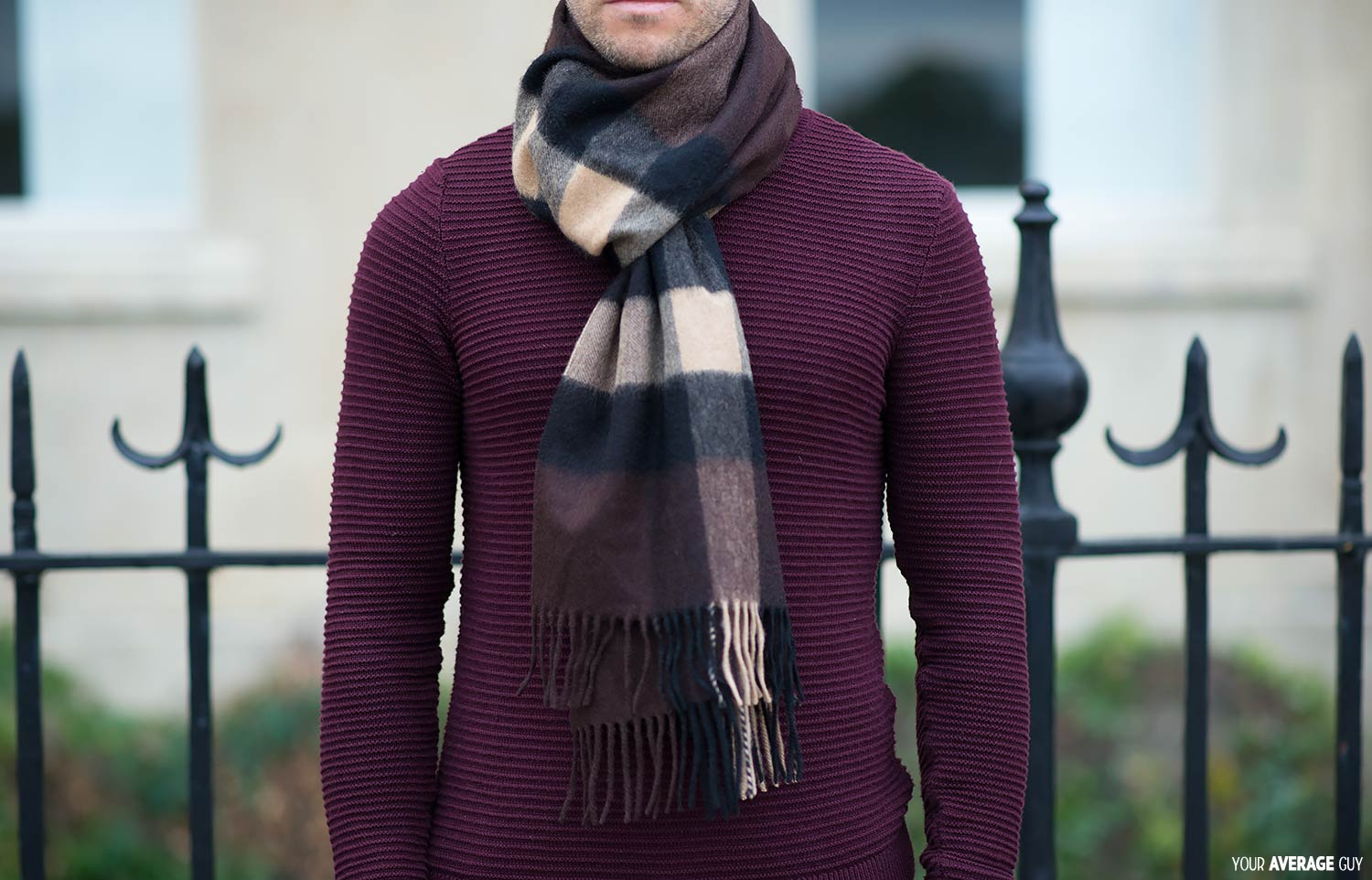 how to wear a scarf men& 39