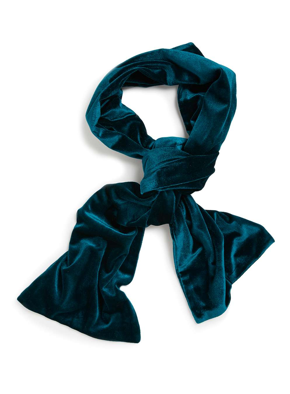 Topman Teal Velvet Dress Scarf