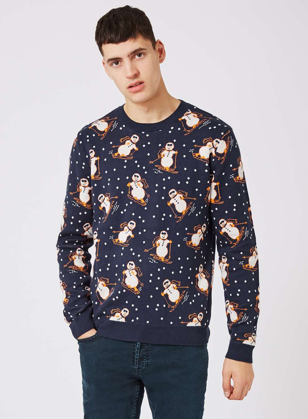 topman-navy-retro-snowman-christmas-jumper