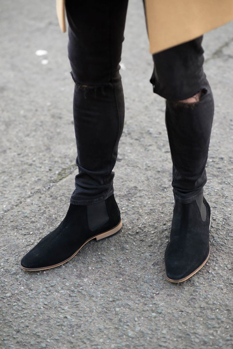 Kurt-Geiger-Black-Suede-Chelsea-Boots-Ripped-Black-Skinny ...