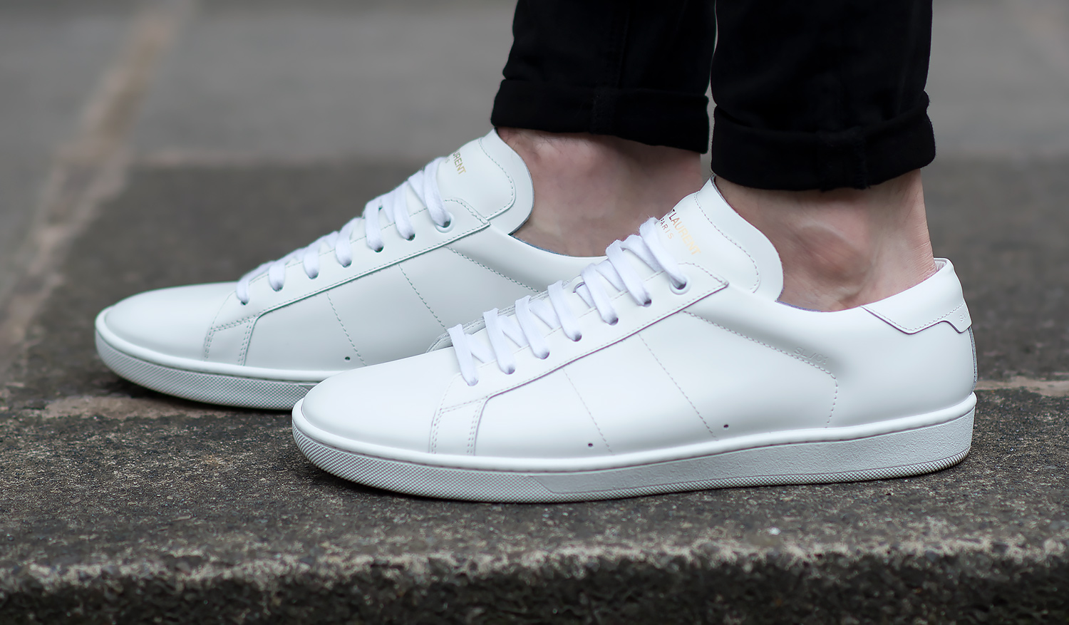 63b6542d41d Saint Laurent Off White Court Classic Sneakers Review | Your Average Guy