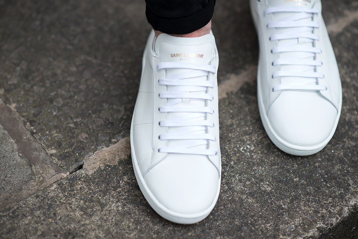 Saint Laurent Off White Court Classic Sneakers Review