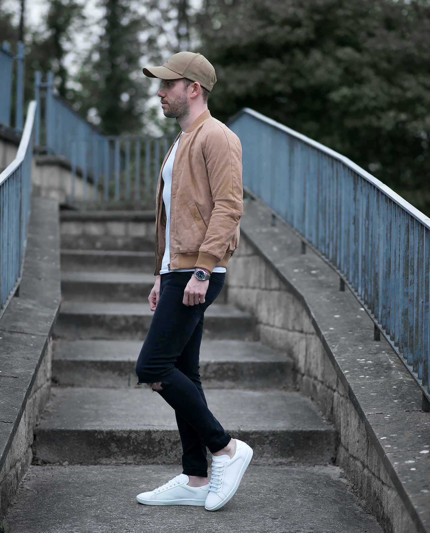Tan Bomber Jacket Outfit Featuring A Special Guest Your