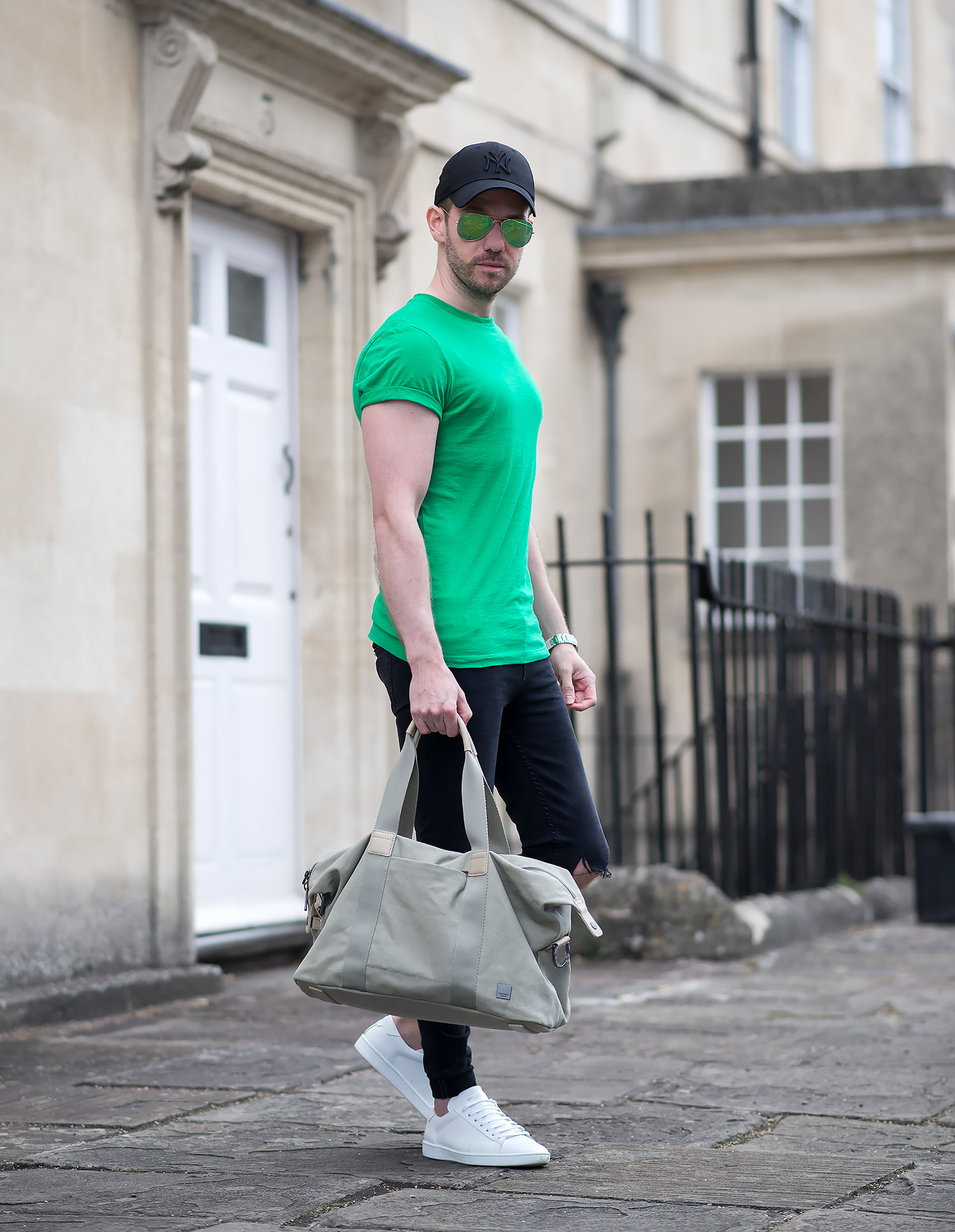 341160759 Pop Of Colour With A Striking Green T Shirt Outfit | Your Average Guy