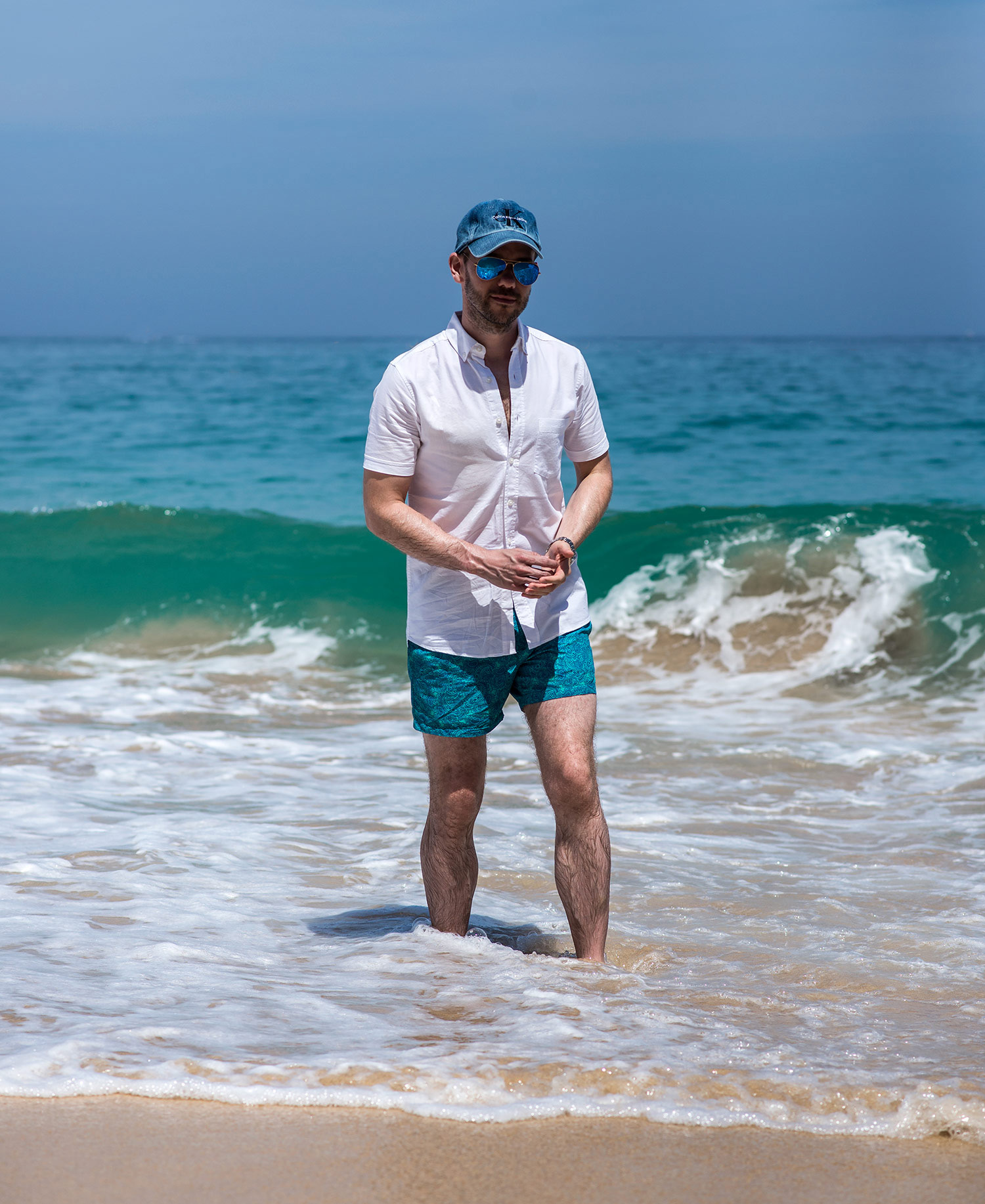 de961d6e5c Sea Splashing St Ives Beach Outfit | Your Average Guy
