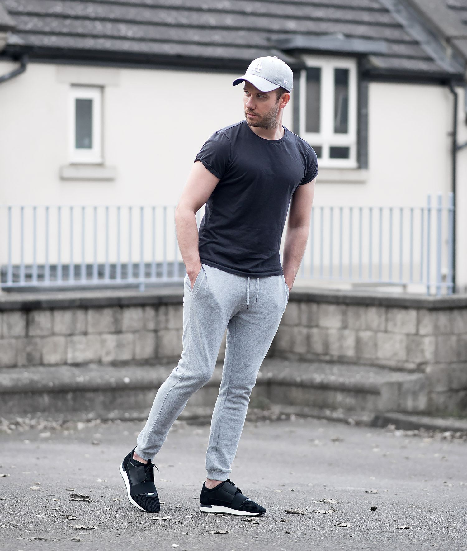 Topman Joggers And Balenciaga Race Runners Outfit