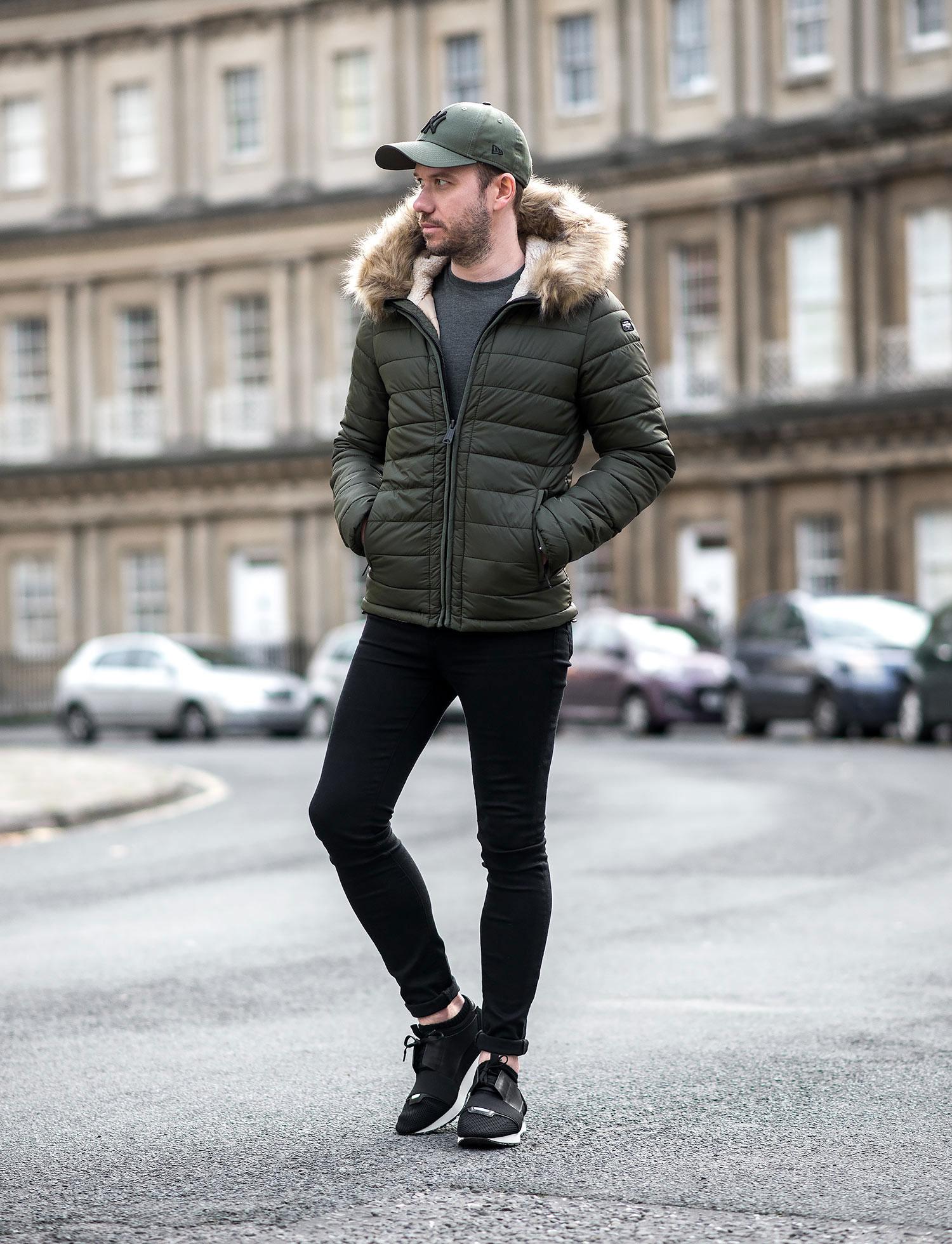 9707db454739 Schott Rocky Puffer Winter Coat Outfit