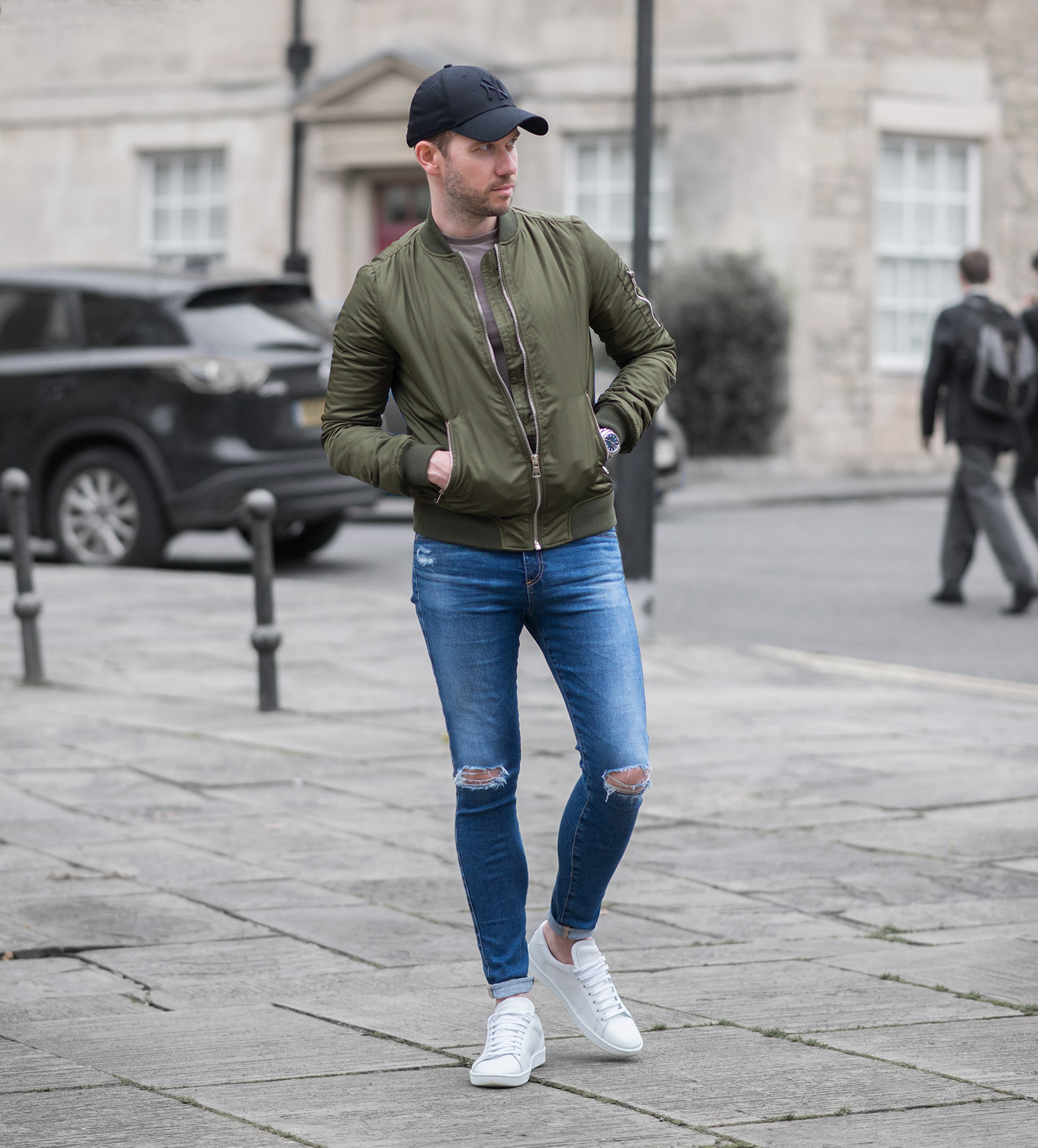 Another Topshop Green Bomber Jacket Outfit | Your Average Guy