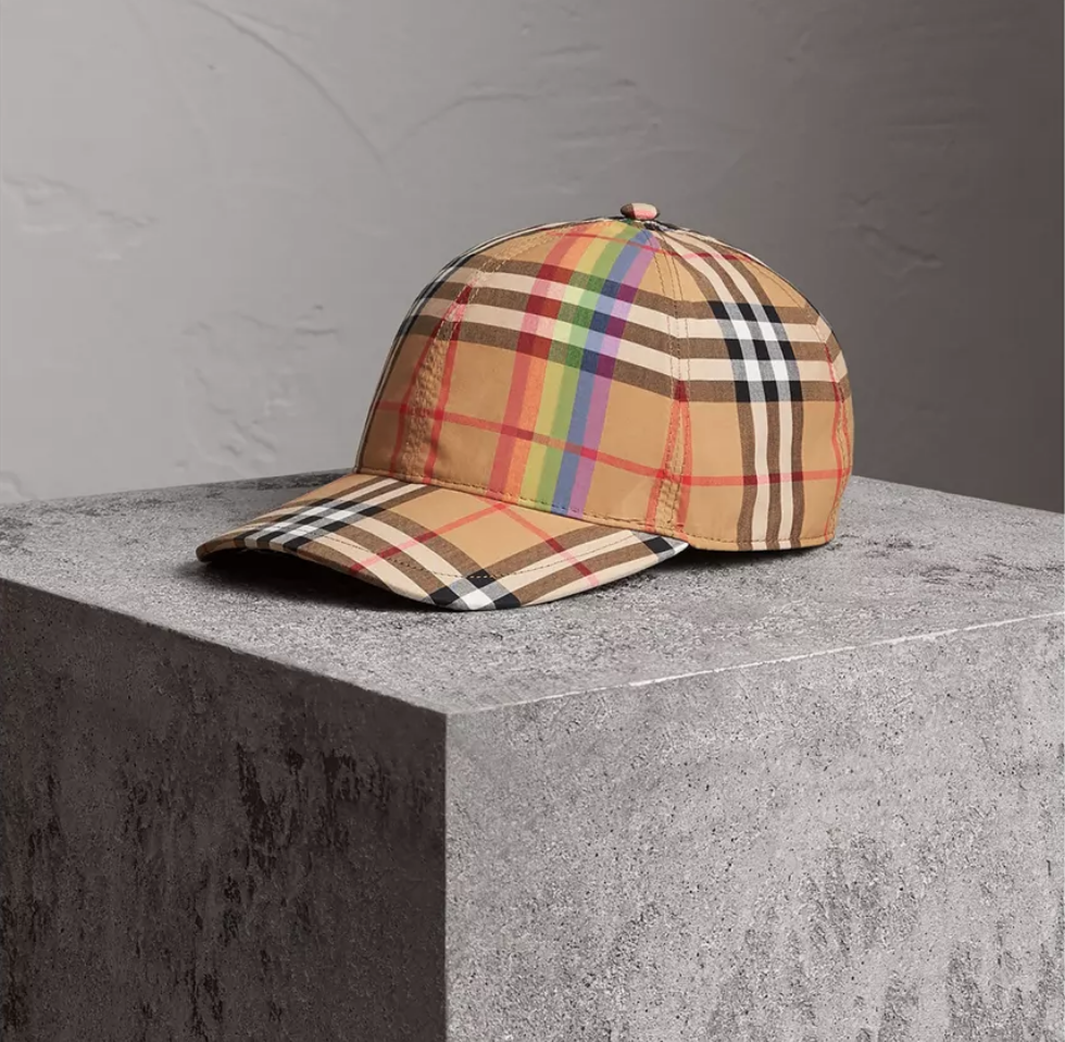 c724a3a4fbf Burberry Check Baseball Cap New Releases
