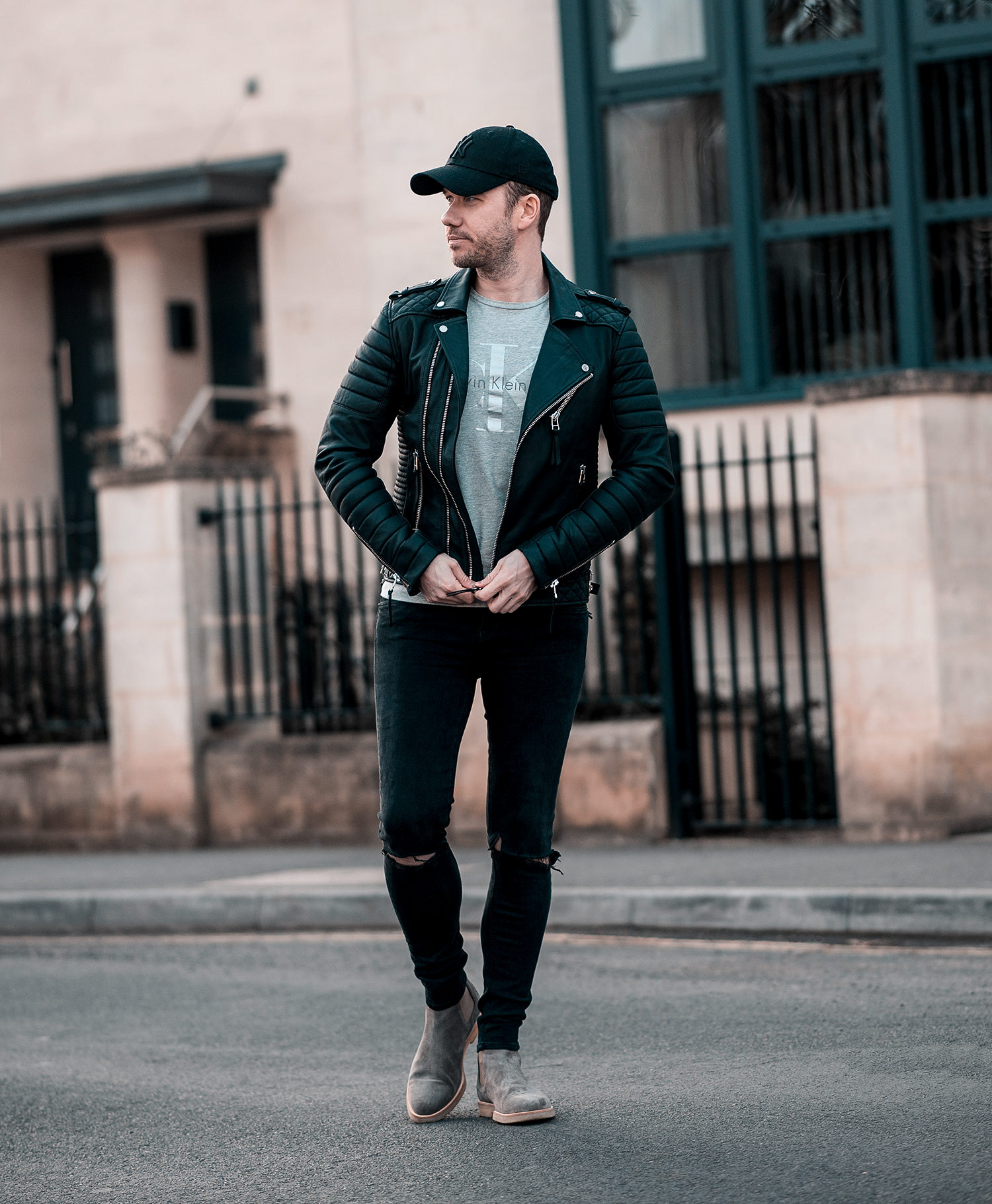 f1fb2ec6 Boda Skins Jacket With Common Projects Chelsea Boots Outfit | Your ...