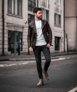 Allsaints Conroy Burgundy Leather Jacket Outfit | Your