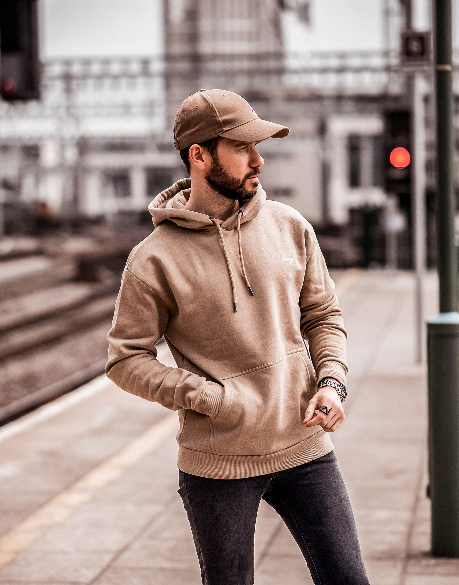 84dcc34cf How To Style A Beige Hoodie | Your Average Guy